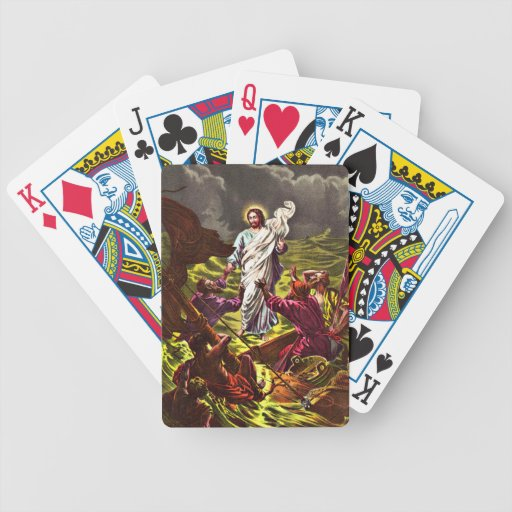 Jesus Walks on Water playing cards Bicycle Playing Cards