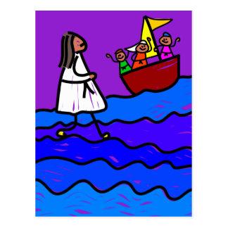 Jesus Walks on Water Post Cards