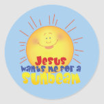 Jesus Wants me for a Sunbeam Classic Round Sticker