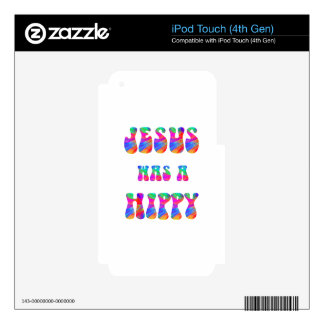 Jesus was a hippy - Colorful iPod Touch 4G Decal