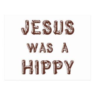 Jesus was a Hippy - Wooden Postcard