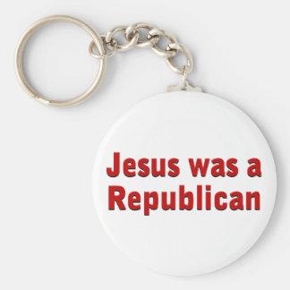 Jesus was a Republican Basic Round Button Keychain
