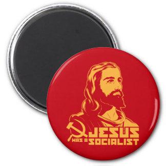Jesus was a Socialist 2 Inch Round Magnet