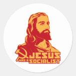 Jesus was a Socialist Round Stickers