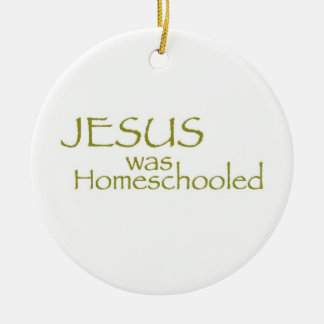 JESUS was Homeschooled Double-Sided Ceramic Round Christmas Ornament
