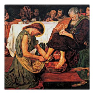 Jesus Washing Peter's Feet (2) Posters