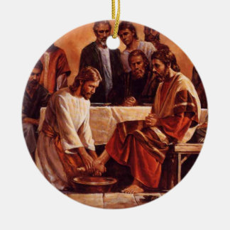 Jesus washing the Disciples Feet Ornament