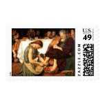 Jesus washing the Disciples feet Postage