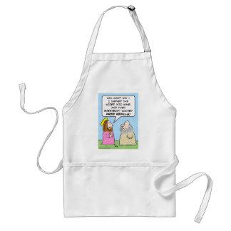 jesus water wine free refills adult apron