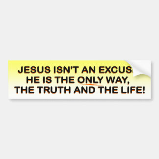 Jesus - way, truth, life bumpersticker bumper sticker