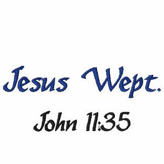 Jesus Wept - polo shirt, white