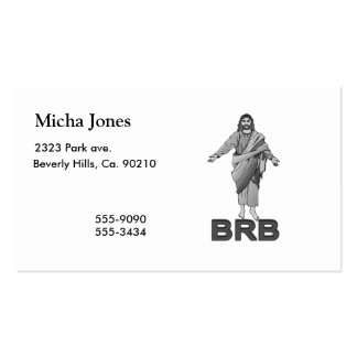Jesus Will Be Right Back Business Card Template