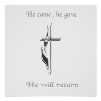 Jesus will return merchandise poster