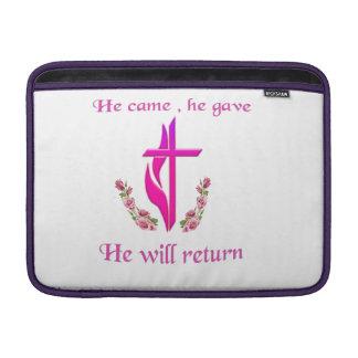 Jesus will return products MacBook sleeve