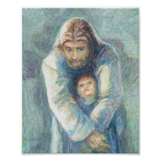 Jesus With A Child Posters