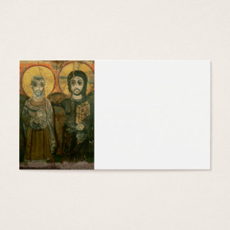 Jesus with Abbot Coptic Icon Business Card