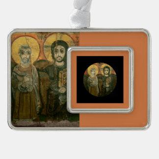Jesus with Abbot Coptic Icon Ornament