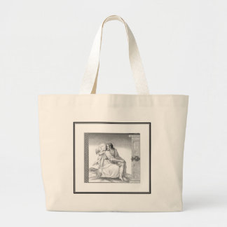 JESUS WITH AN ANGEL LARGE TOTE BAG