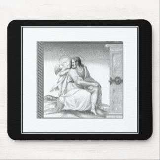 JESUS WITH AN ANGEL MOUSE PADS