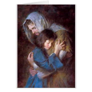 Jesus With Child Card
