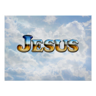 Jesus with Clouds - Poster