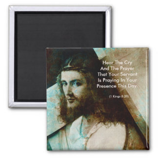 Jesus With Cross 2 Inch Square Magnet