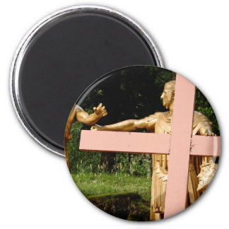 Jesus with cross magnet
