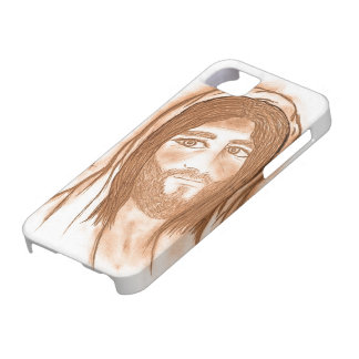 Jesus with Crosses in the Background iPhone SE/5/5s Case