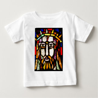 JESUS WITH CROWN OF THORNS STAINED GLASS BABY T-Shirt