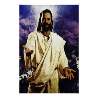 Jesus with his arms open to you poster