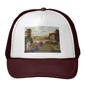 Jesus With His Disciples By Olivier Ferdinand Trucker Hat
