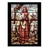 Jesus with His Sheep Postcard