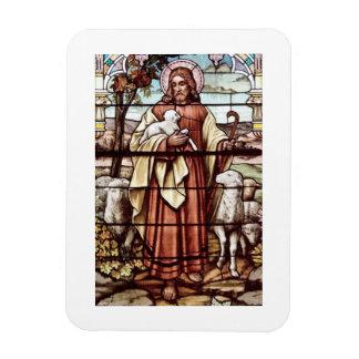 Jesus with His Sheep Rectangular Photo Magnet