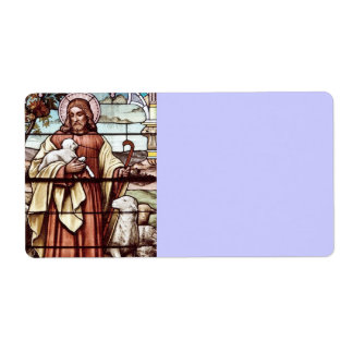 Jesus with His Sheep Shipping Label