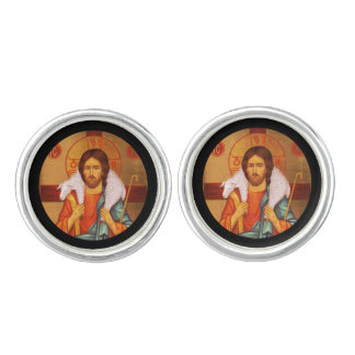 Jesus With Lamb on His Shoulders Cufflinks