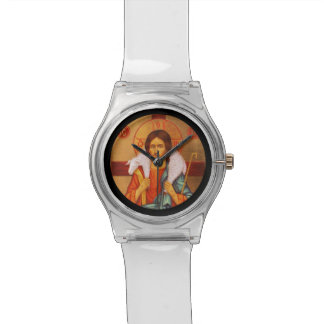 Jesus With Lamb on His Shoulders Wristwatches