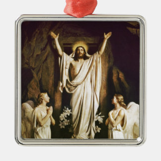 Jesus with Mary After Resurrection Metal Ornament