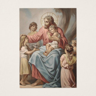 Jesus with the Children Boys Girls Business Card