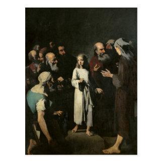 Jesus with the Doctors Postcard