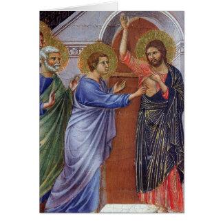 Jesus with Thomas and Apostles c1311 Card