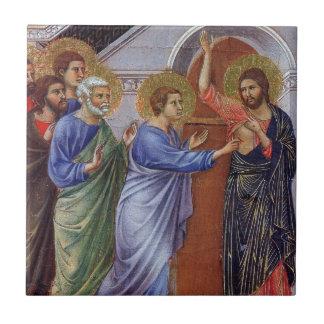 Jesus with Thomas and Apostles c1311 Ceramic Tile