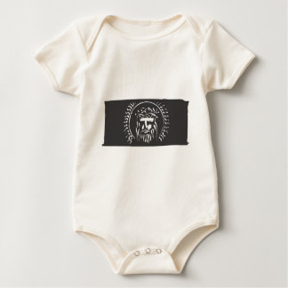 Jesus with Thorn Crown Baby Bodysuit