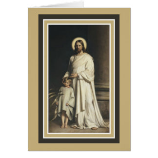 Jesus with Young Child Card