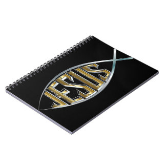 Jesus within a Fish Symbol Notebook