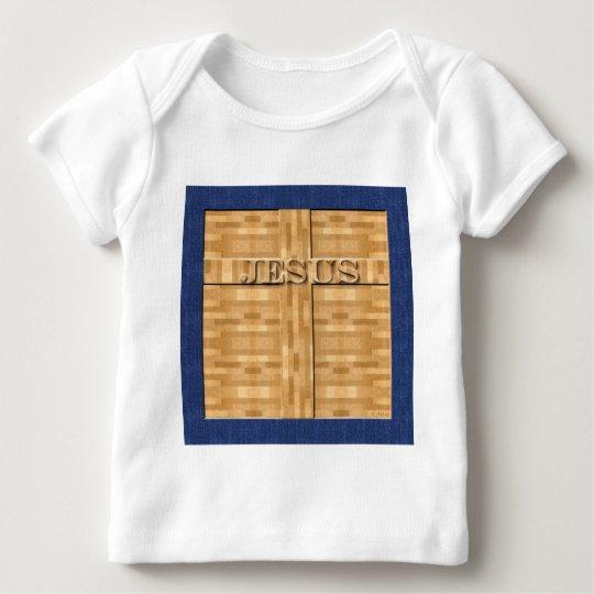 Jesus Wood Carving Baby T-Shirt
