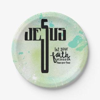 Jesus Word Art Paper Plate