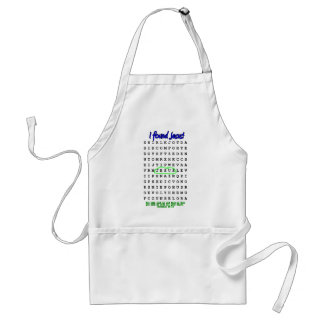 Jesus Word Search Puzzle Adult Apron