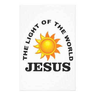 jesus world light stationery