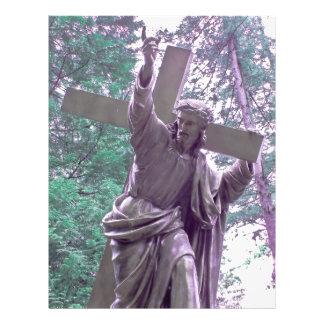 Jesús y aviador cristiano cruzado flyer personalizado