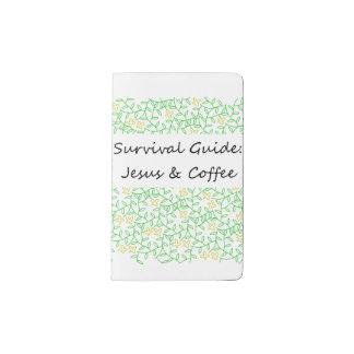 Jesús y café funda para libreta y libreta pequeña moleskine